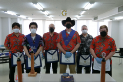 Shonan Masonic Lodge members